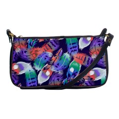 Bird Feathers Color Rainbow Animals Fly Shoulder Clutch Bags by Mariart