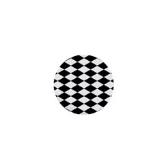 Diamond Black White Plaid Chevron 1  Mini Buttons by Mariart