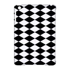 Diamond Black White Plaid Chevron Apple Ipad Mini Hardshell Case (compatible With Smart Cover) by Mariart