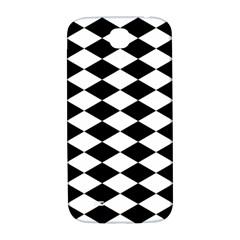 Diamond Black White Plaid Chevron Samsung Galaxy S4 I9500/i9505  Hardshell Back Case by Mariart