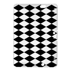 Diamond Black White Plaid Chevron Kindle Fire Hdx 8 9  Hardshell Case by Mariart