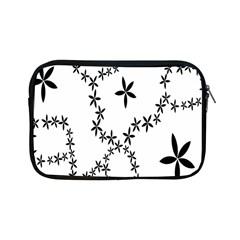 Flower Floral Black Line Wave Chevron Fleurs Apple Ipad Mini Zipper Cases by Mariart