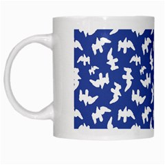 Birds Silhouette Pattern White Mugs by dflcprintsclothing