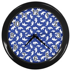 Birds Silhouette Pattern Wall Clocks (black) by dflcprintsclothing