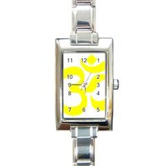 Hindu Om Symbol (maze Yellow) Rectangle Italian Charm Watch by abbeyz71