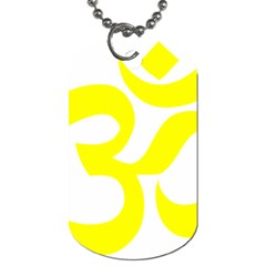 Hindu Om Symbol (maze Yellow) Dog Tag (one Side) by abbeyz71