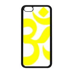 Hindu Om Symbol (maze Yellow) Apple Iphone 5c Seamless Case (black) by abbeyz71
