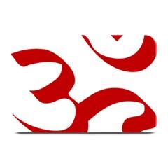 Hindu Om Symbol (red) Plate Mats by abbeyz71