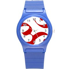 Hindu Om Symbol (red) Round Plastic Sport Watch (s) by abbeyz71