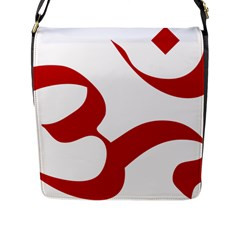 Hindu Om Symbol (red) Flap Messenger Bag (l)  by abbeyz71
