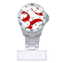 Hindu Om Symbol (red) Plastic Nurses Watch by abbeyz71
