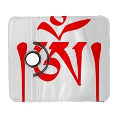 Tibetan Om Symbol (red) Galaxy S3 (flip/folio) by abbeyz71