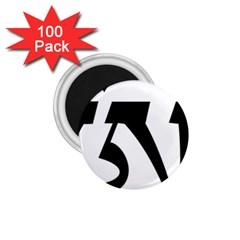 Tibetan Om Symbol (black) 1 75  Magnets (100 Pack)  by abbeyz71