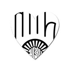 Janism Ahimsa Symbol  Heart Magnet by abbeyz71