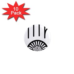 Jainism Ahisma Symbol  1  Mini Magnet (10 Pack)  by abbeyz71