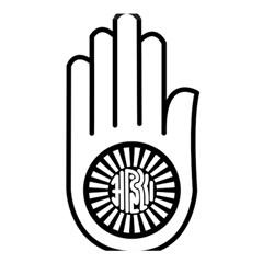 Jainism Ahisma Symbol  Shower Curtain 48  X 72  (small)  by abbeyz71