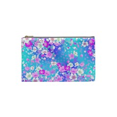 Flowers Cute Pattern Cosmetic Bag (small)  by Nexatart