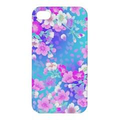 Flowers Cute Pattern Apple Iphone 4/4s Premium Hardshell Case by Nexatart