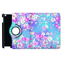 Flowers Cute Pattern Apple Ipad 3/4 Flip 360 Case by Nexatart