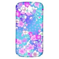 Flowers Cute Pattern Samsung Galaxy S3 S Iii Classic Hardshell Back Case by Nexatart