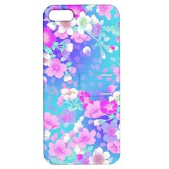 Flowers Cute Pattern Apple Iphone 5 Hardshell Case With Stand by Nexatart