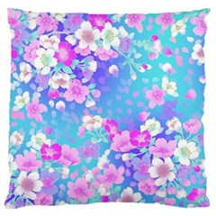 Flowers Cute Pattern Large Flano Cushion Case (two Sides) by Nexatart