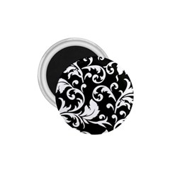 Black And White Floral Patterns 1 75  Magnets by Nexatart