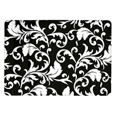 Black And White Floral Patterns Samsung Galaxy Tab 10 1  P7500 Flip Case by Nexatart