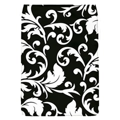 Black And White Floral Patterns Flap Covers (s)  by Nexatart