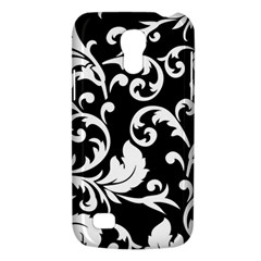 Black And White Floral Patterns Galaxy S4 Mini by Nexatart