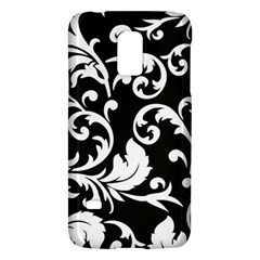 Black And White Floral Patterns Galaxy S5 Mini by Nexatart