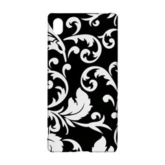 Black And White Floral Patterns Sony Xperia Z3+ by Nexatart