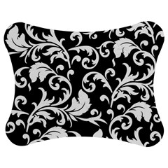 Black And White Floral Patterns Jigsaw Puzzle Photo Stand (Bow)