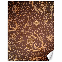 Gold And Brown Background Patterns Canvas 18  X 24   by Nexatart