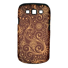 Gold And Brown Background Patterns Samsung Galaxy S Iii Classic Hardshell Case (pc+silicone) by Nexatart