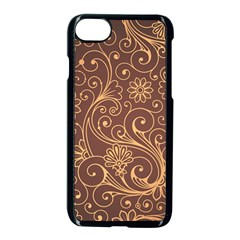 Gold And Brown Background Patterns Apple Iphone 7 Seamless Case (black) by Nexatart