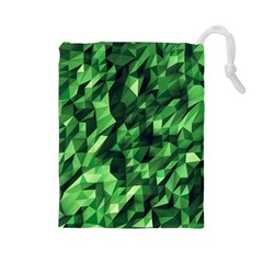 Green Attack Drawstring Pouches (large)  by Nexatart