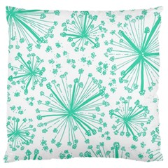 Pattern Floralgreen Large Cushion Case (one Side) by Nexatart