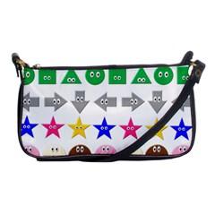 Cute Symbol Shoulder Clutch Bags by Nexatart