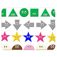 Cute Symbol Double Sided Flano Blanket (medium)  by Nexatart