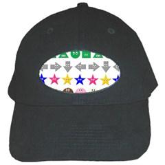 Cute Symbol Black Cap by Nexatart