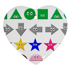 Cute Symbol Ornament (heart) by Nexatart