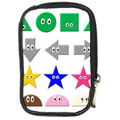 Cute Symbol Compact Camera Cases by Nexatart