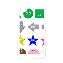 Cute Symbol Apple Iphone 4 Case (white) by Nexatart