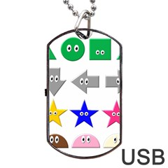 Cute Symbol Dog Tag Usb Flash (two Sides) by Nexatart