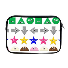Cute Symbol Apple Macbook Pro 17  Zipper Case by Nexatart