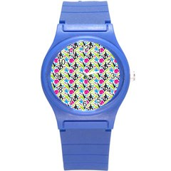 Cool Graffiti Patterns  Round Plastic Sport Watch (s) by Nexatart