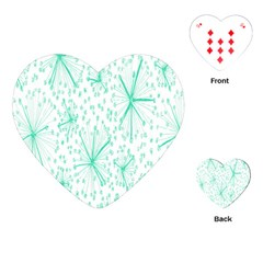Pattern Floralgreen Playing Cards (heart)  by Nexatart