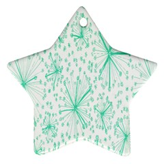 Pattern Floralgreen Star Ornament (Two Sides)