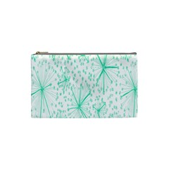Pattern Floralgreen Cosmetic Bag (small)  by Nexatart